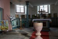 Volkhard Michels Bilder in der ev. Kirche (Foto R. Schultheiß)