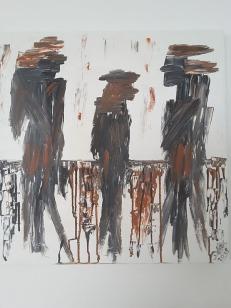 """Doris Keipp - 1953 in Brauerschwend geboren und seit 1970 wohnhaft in Wallenrod. Ich bin zum 4. Mal als ausstellender Künstler beim Kulturverein Landenhausen dabei. """"Gefühle, die mein Tun bestimmen, sind Inspirationen des täglichen Lebens. Mit verschiedenen Techniken, Farbe und anderen Materialien bringe ich sie auf die Leinwand."""""""
