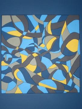 """Horst Kurz - Unter dem Begriff """"Kunst mit Ecken und Kanten"""" verarbeitet der passionierte Holzkünstler Horst Kurz seit vielen Jahren unterschiedliche Hölzer. Diese werden ausgesägt, geschliffen und bemalt. Erweiternd verwendet er verschiedene Materialien wie Kieselsteine und Spiegel, die er mit in die Bilder einbaut oder als Einzelcollage anfertigt. Horst Kurz experimentiert sehr gerne und ist dabei vielfältig in der Ausdrucksart."""